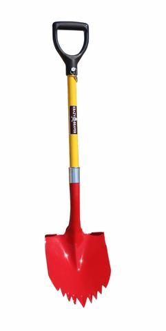 Super Shovel 40 Inch Long Steel Red/Yellow Krazy Beaver Tools