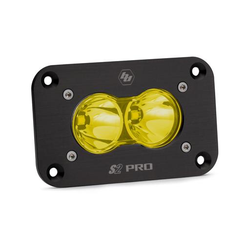 LED Work Light Flush Mount Amber Lens Spot Pattern S2 Pro Baja Designs