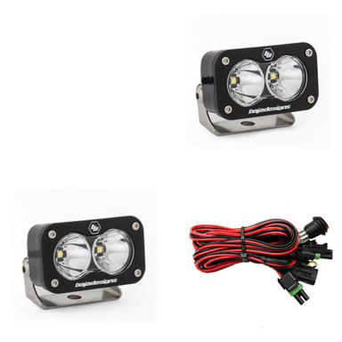 LED Light Pods Spot Pattern Pair S2 Pro Series Baja Designs