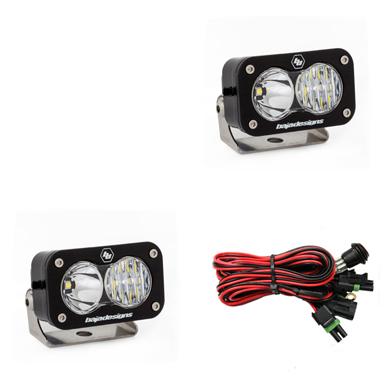 LED Light Pods Driving Combo Pattern Pair S2 Pro Series Baja Designs