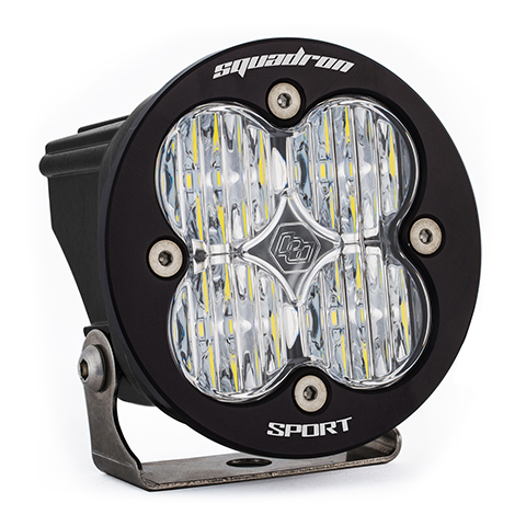 LED Light Pod Clear Lens Wide Cornering Pattern Each Squadron R Sport Baja Designs