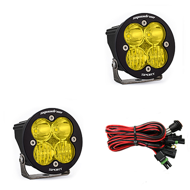 LED Light Pods Amber Lens Driving/Combo Pair Squadron R Sport Baja Designs