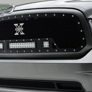Ram 1500 Grille 13-18 Dodge Ram 1500 Full Opening Mild Steel Powdercoat Black 1 Piece Torch Series T-REX Grilles