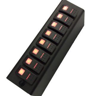 JK Add On Switch Panel For 8 Circuit SE System 07-08 Wrangler JK Amber sPOD