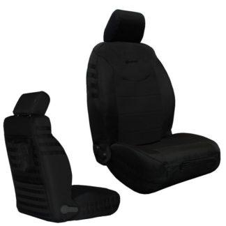 Jeep JK Seat Covers Front 13-17 Wrangler JK/JKU Tactical Series Graphite/Graphite Bartact