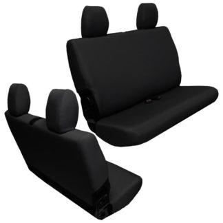 Jeep JK Seat Covers Rear Bench 13-17 Wrangler JK 2 Door Baseline Performance Black Bartact