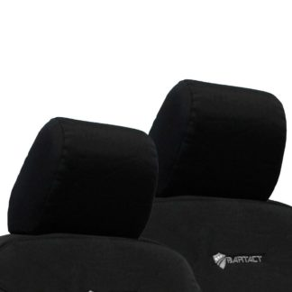 Jeep JK Front Headrest Covers 07-10 Wrangler JK 2 Door Tactical Series Black Bartact