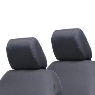 Jeep JK Front Headrest Covers 07-10 Wrangler JK 2 Door Tactical Series Graphite Bartact