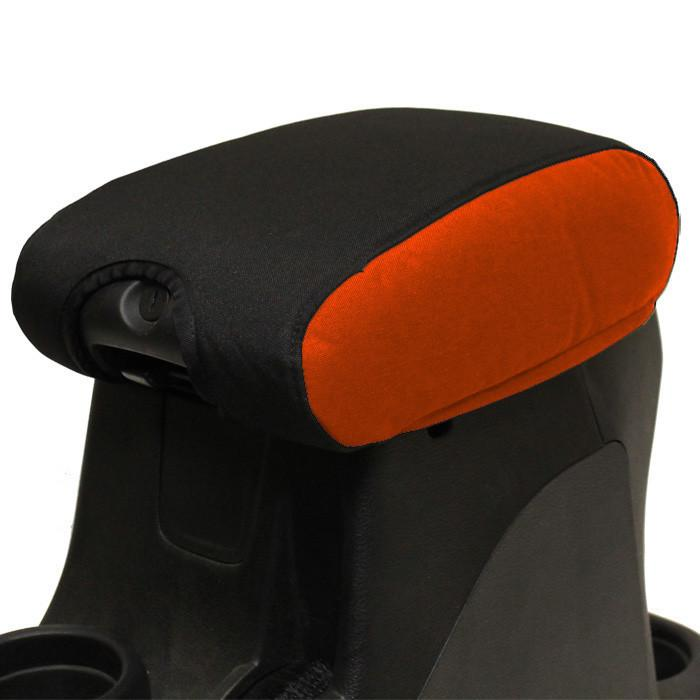 Jeep Center Console Cover Padded 11-17 Wrangler JK/JKU Orange/Black Bartact