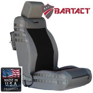 Jeep JK Seat Covers Front 07-10 Wrangler JK/JKU Tactical Series Not Air Bag Compliant Graphite/Black Bartact