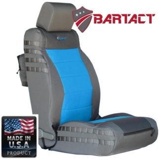 Jeep JK Seat Covers Front 07-10 Wrangler JK/JKU Tactical Series Not Air Bag Compliant Graphite/Blue Bartact