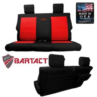 Jeep JK Seat Covers Rear Bench 11-12 Wrangler JK 2 Door Tactical Series Black/Khaki Bartact