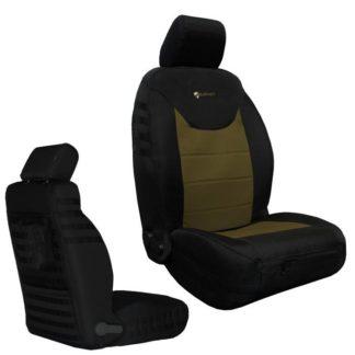 Jeep JK Seat Covers Front 13-17 Wrangler JK/JKU Tactical Non Airbag Compliant Black/Coyote Bartact