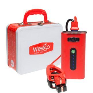 Portable Jump Starter W/500 Lumen Tactical Flashlight Jump Starter 44 Weego