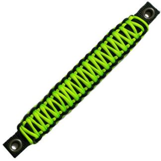 Jeep Wrangler Grab Handles Paracord JK Sound Bar Rear Side Pair Black/Gecko Neon Green Bartact