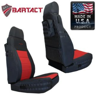 Jeep TJ Seat Covers Front 03-06 Wrangler TJ Tactical Series Graphite/Khaki Bartact