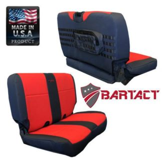 Jeep TJ Seat Covers Rear Bench 03-06 Wrangler TJ Tactical Series Black/Olive Drab Bartact