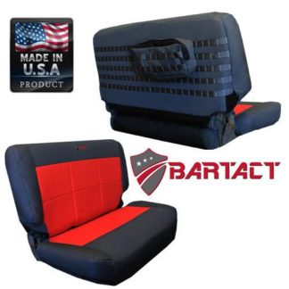 Jeep TJ Seat Covers Rear Bench 97-02 Wrangler TJ Tactical Series Black/Blue Bartact