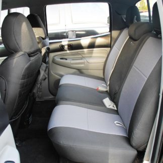 Tacoma Rear Bench Seat Covers 09-15 Toyota Tacoma Double Cab Tactical Series Black/Graphite Bartact