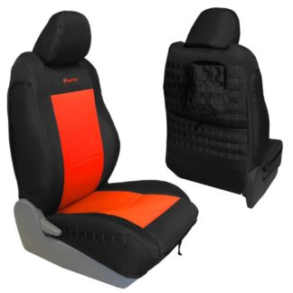Toyota Tacoma Seat Covers 09-15 Tacoma TRD Front Black/Orange Tactical Series Pair Bartact