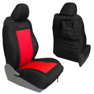 Toyota Tacoma Seat Covers 09-15 Tacoma TRD Front Graphite/Red Tactical Series Pair Bartact
