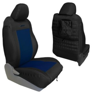 Toyota Tacoma Seat Covers 09-15 Tacoma TRD Front Graphite/Navy Tactical Series Pair Bartact