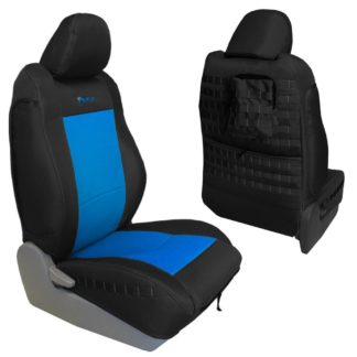 Toyota Tacoma Seat Covers 09-15 Tacoma TRD Front Graphite/Blue Tactical Series Pair Bartact