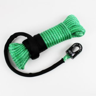 ATV/UTV Winch Rope With Safety Thimble 50 Foot 1/4 Inch Diameter Synthetic Lime Green TRE-Tactical Recovery Equipment