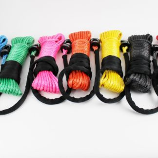 ATV/UTV Winch Rope With Safety Thimble 50 Foot 1/4 Inch Diameter Synthetic Orange TRE-Tactical Recovery Equipment