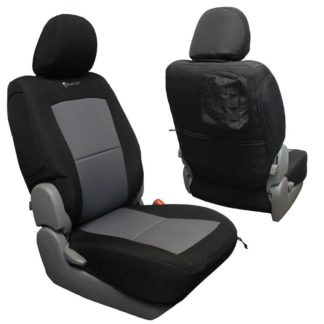 Toyota Tacoma Seat Covers 09-15 Tacoma Front Black/Navy Tactical Series Pair Bartact