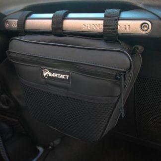 Jeep Wrangler Dash Bag Passenger Grab Handle Dash Bag Fabric Orange Bartact
