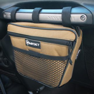 Jeep Wrangler Dash Bag Passenger Grab Handle Dash Bag Vinyl Coyote Bartact