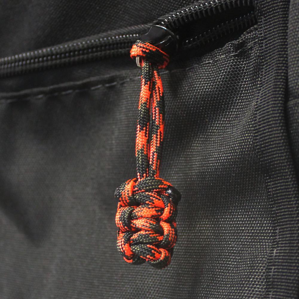 Paracord Zipper Pull Orange Camo Set Of 5 Bartact