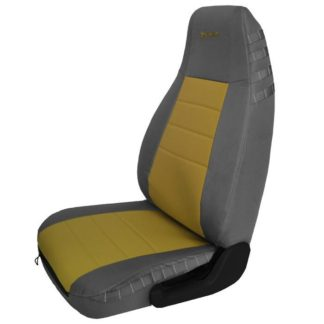 Jeep YJ Seat Covers Front 87-95 Wrangler YJ Mil-Spec Graphite/Coyote Bartact