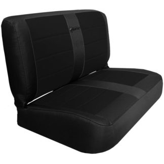 Jeep YJ Seat Covers Rear Bench 87-95 Wrangler YJ Mil-Spec Black/Black Bartact