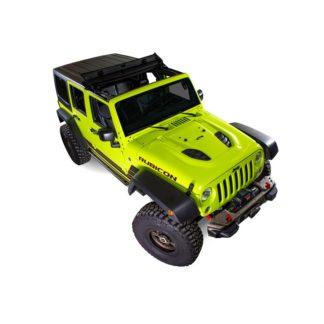 Jeep JK Folding Roof 07-18 Wrangler JK 1 Piece Fabirc Black Forest Throw Back