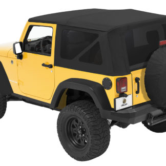 Jeep JK Replace-A-Top Sailcloth For Full Steel Doors Tinted Windows 10-17 Wrangler JK 2-Door Black Diamond Kit Bestop