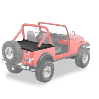 Jeep YJ/CJ Duster Deck Cover w/Supertop Bow Folded Down 80-91 Jeep YJ Wrangler/CJ-7 Black Crush Bestop