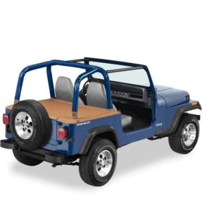 Jeep YJ Duster Deck Cover w/Supertop Bow Folded Down 92-95 Jeep YJ Wrangler Spice Bestop 1