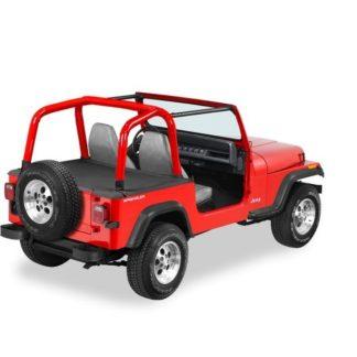 Jeep YJ Duster Deck Cover w/Factory Hardtop Removed 92-95 Jeep YJ Wrangler Black Denim Bestop