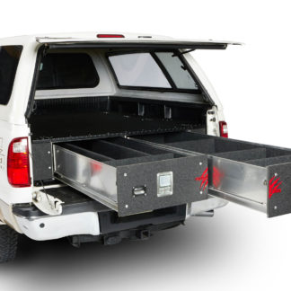 Cargo Locker Base 12 Inch Single Drawer System 99-Pres Silverado/Sierra Ford 96-Pres F150/F250/F350 08-09 Nissan Titan 07-Pres/Toyota Tundra Long Bed Cargo Ease