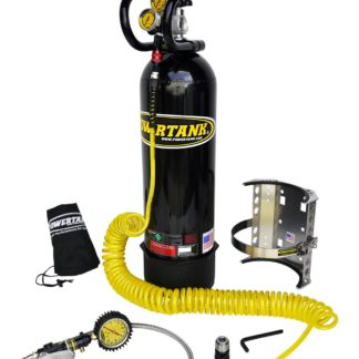 CO2 Tank 15 LB Power Tank Package B 400 PSI Gloss Black Power Tank