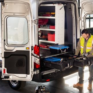 Cargo Van Storage System 14-Pres Ford Transit 148 FT DECKED