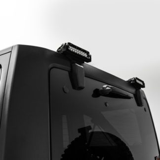 Rear Window Hinges Light Brackets 2007-2017 Wrangler JK Hard Top Models Bolt On Only Accepts (2) 6 Inch Led Lights ZROADZ